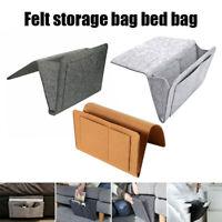 Bedside Hanging Storage Bag Pocket Organizer Holder Bed Desk Sofa Armrest Home