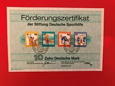 GERMANY BRD FRD SPORTHILFE CERT 1976 OLYMPIC GAMES ROWING BASKETBALL VOLLEYBALL