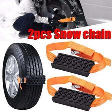 2x Universal Snow Chain Saloon Car Wheel Tire Emergency Anti Skid Strap Tie Belt