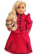 Fits American Girl Doll Christmas Dress Outfit 18 inch Doll Clothes Accessories