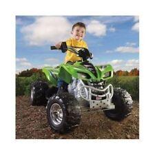 QUAD POWER WHEELS KAWASAKI KFX ATV Battery Operated RIDE ON Electric Toy KID BOY