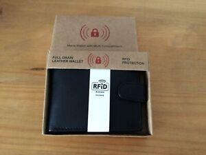 Men's Black Leather Wallet in Box