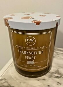 Thanksgiving Feast Candle Hand Poured DW Home Richly Scented 33 Hours 9.1 Oz New