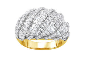Lab-Created White Sapphire 14k Yellow Gold Over Sterling Silver Wave Ring