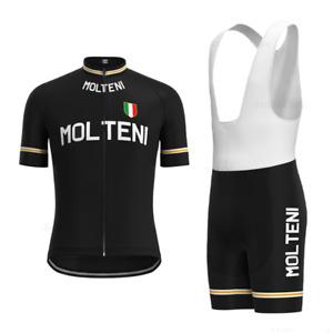 RETRO Molteni Cycling Jersey bib shorts Cycling Short Sleeve Jersey