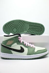 Nike Air Jordan 1 Mid SE Dutch Green Black CZ0774-300 Women's Sizes