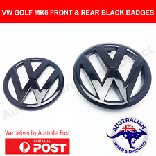 Volkswagen VW MK6 Gloss Black Badges Emblems Front & Rear GTI GOLF R MKVI AUS