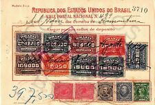 August 14, 1918 Republic of the United States of Brazil Postal Savings Card (1)