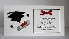 Personalised Graduation Gift/Money/Voucher Wallet -  Handmade