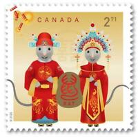 2020 Canada Post 🍁🐀 YEAR OF THE RAT 🐀 INTERNATIONAL RATE MNH From Booklet 🐀