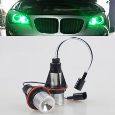FOR BMW E65 E66 740 745 2x LED GREEN ANGEL EYES RING HALO DRL LIGHTS ERROR FREE