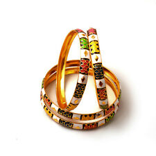 Bangles Fine Gold Plated 2.6 Inch Size Multi-Color Meena Work Jewelry 6924