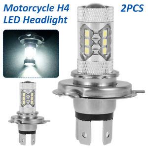2PCS Motorcycle H4 LED Bulb 9003 HB2 Headlight 9000LM 6500K Hi/Lo Beam Light 12V