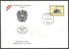 Autriche 1986 1679 FDC Minéraux Fossiles Cristallisation d'antimonite