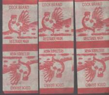 Lot of Three Rare Cock Brand Firecracker Label Logo Wrappers