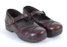 Dansko XP Mary Jane Brown Leather Nursing Clogs Shoes Occupational 41 US 10.5 11