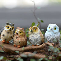 Figurine Owl Craft Cute Owl Miniatures Bonsai Home Fairy Garden Ornament Decor