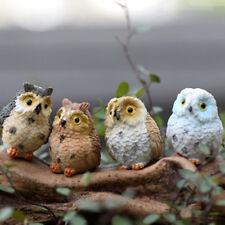 Figurine Owl Craft Cute Owl Miniatures Bonsai Home Fairy Garden Ornament Decor