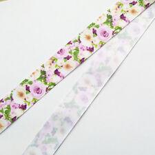 5/10y 25mm(1'') Flower Printed Grosgrain Ribbon for Hand Making Diy Craft
