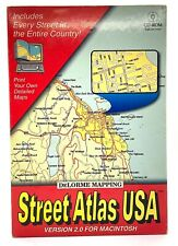 DeLorme Mapping Street Atlas Usa, V2.0 for Mac Cd-Rom with Manual