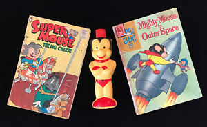 Mighty Mouse, Super Mouse Custom Lot Comics, Soaky Bottle, Terrytoons