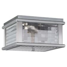 Feiss Mission Lodge 2Light Ceiling Fixture, Brushed Aluminum - Ol3413Bral