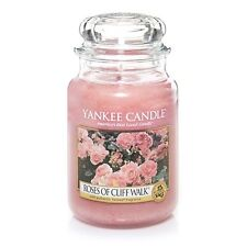 Yankee Candle - ROSES OF CLIFF WALK - 22 oz - Great Floral Scent!! - RARE!!