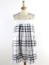 Burberry Womens Grey Check Cotton Sundress Size 10