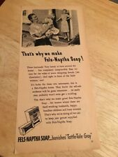 Vintage 1942 - FELS-NAPTHA SOAP Magazine Ad -  E.F. WARD  Artwork