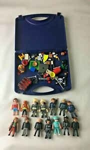 14 x Playmobil Figures Bundle With Accessories & Official Carry Case Storage Box