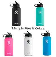 Hydro Flask Wide Mouth Water Bottle, Straw Lid - Multiple Sizes & Colors 32oz