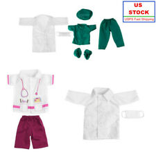 Us Doctor Nurse Clothing Doll Clothes Sets for My Life Doll Dress up Xmas Gift