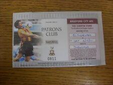 08/12/2001 Ticket: Bradford City v Rotherham United [Patrons Club Day Pass] . An