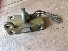 Antique Lock Latch Door Keep Hardware Solid Brass Old Reclaimed Salvage