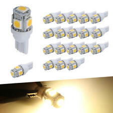 20X Warm White T10 921 Interior/License Plate SMD Light Bulbs 5-LED