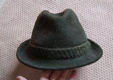 Dunn & Co Vintage Wool Felt Trilby Hat Green 7 1/4