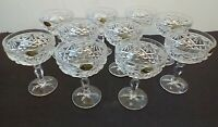 10 Vintage Crystal Champagne Sherbet Glasses -The European Collection Yugoslavia