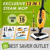 Maxkon 13in1 Handheld Steam Mop Cleaner Floor Carpet Cleaning Steamer Heated