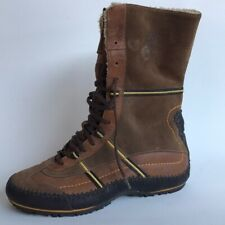 Timberland Lace Up Waterproof Suede Mid-calf Boots