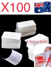 100PCS Manicure Nail Art Polish Remover Lint Free Cleaner Wipe Cotton Pad Paper