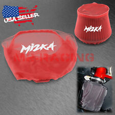 Red Engine Cold Air Intake Pre Filter Conical Cover Water Repellent Washable
