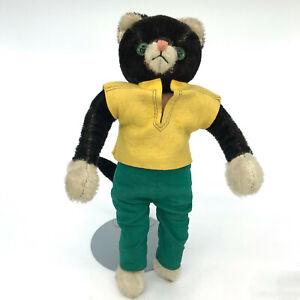 Schuco Tom Cat Bendy Doll 30cm 12in Mohair and Fabric Bigo Bello 1960s no ID Vtg