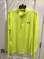 NEW Mens Under Armour 1//4 Zip Black /& White Silky Pullover Shooting Shirt Large