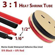 31 Heat Shrink Tubing 12 Marine Grade Blackampred Adhesive Glue Wire Assortment