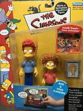THE SIMPSONS World of Springfield WOS Rod & Todd Flanders SERIES 9 Action Figure