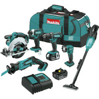 Makita XT614SX1 18V LXT Li-Ion 6-Pc. Combo Kit (3 Ah) New