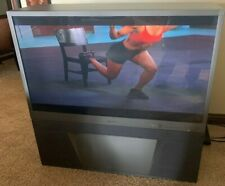 """Mitsubishi Ws -55413 55"""" Rear Projection Tv 1080i Silver Plus Series Works Great"""
