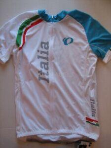 Pearl IZUMI Cycling Jersey Zip Elite Racing Tour de France Team ITALIA Men's L