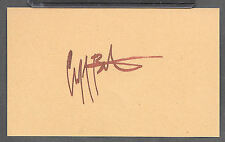 Cliff Burton Metallica Autograph Reprint Appears Authentic On 3x5 Card
