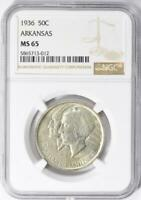 1936 Arkansas Commemorative Silver Half Dollar NGC MS-65 - Mint State 65